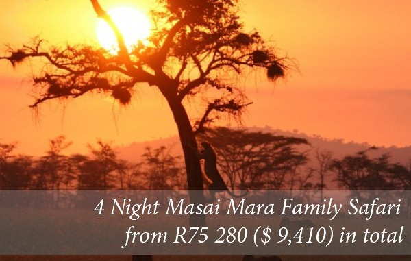 4 Night Family Safari To Masai Mara in Kenya From R75 280 (2 adults/3 children)