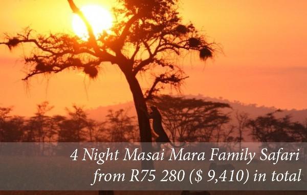 4 Night Family Safari To Masai Mara in Kenya From R75 280 (2 adults/3 children)