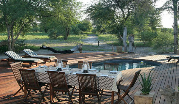Haina Kalahari Lodge - Pool area