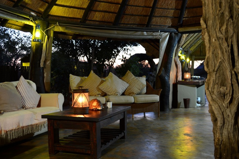 Africa on Foot lounge area.