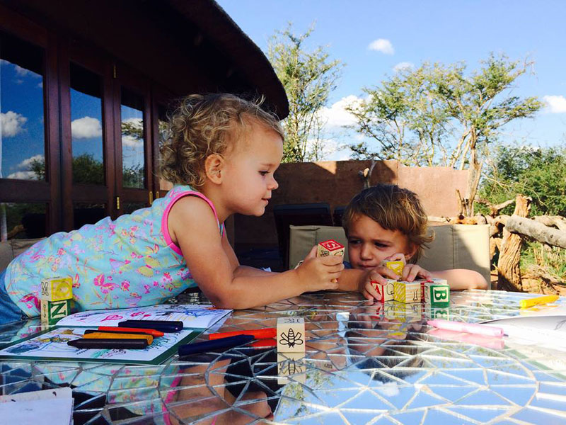 Liselle Takes Tiny Toddlers on Safari to Madikwe