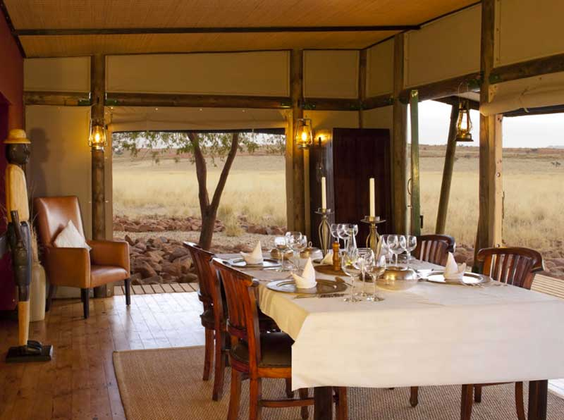 Wolwedans Private Camp Dining