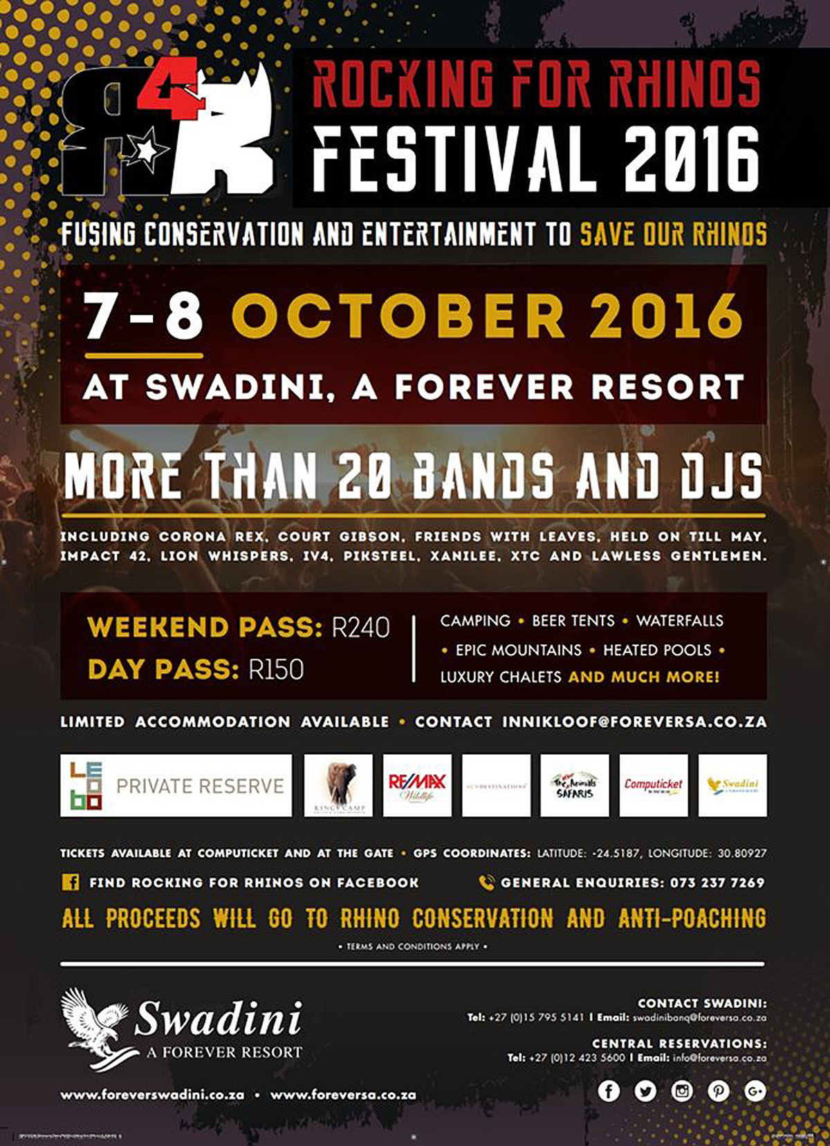 , Rocking for Rhinos Festival : Get Your Tickets