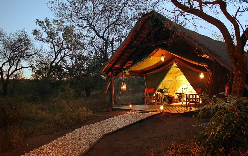 A tent at Kwa Mbili
