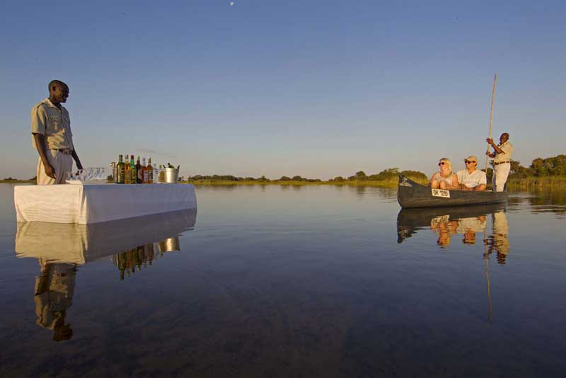Camp Okavango Sunset Drinks