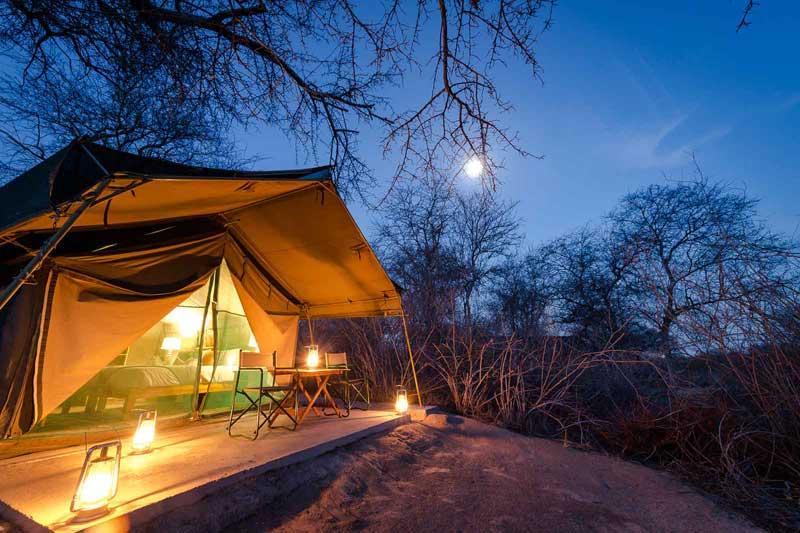 Tent at Tuskers Bush Camp