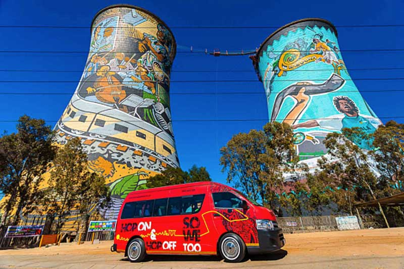 Towers of Soweto - Image Rainbow Cabs