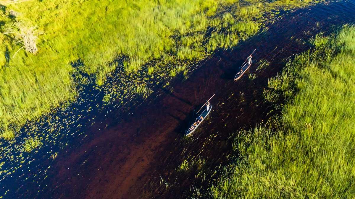 Canoeing Down the Selinda