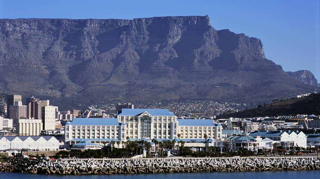 Aerial view of The Table Bay with Table Mountain in the background 2