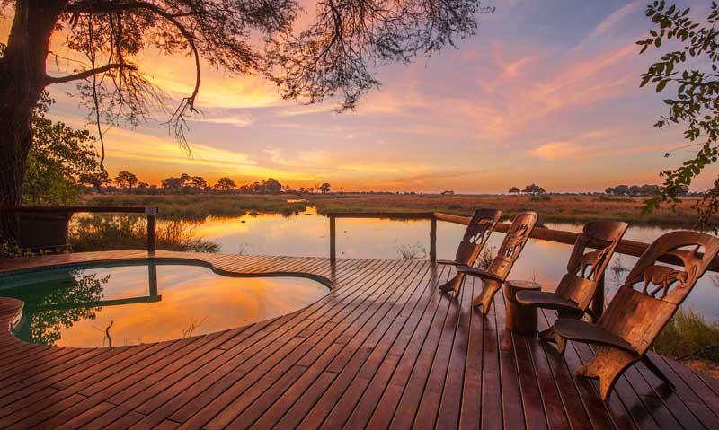 Kwando Lagoon Sunset