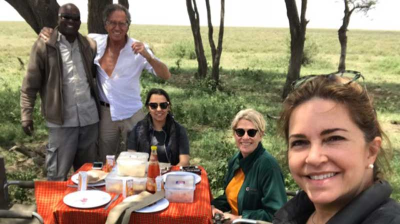 Guests on Safari in East Africa