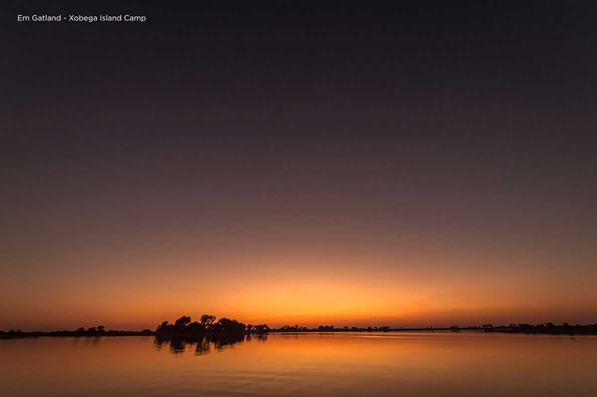 Sunset Delta Xobega Island