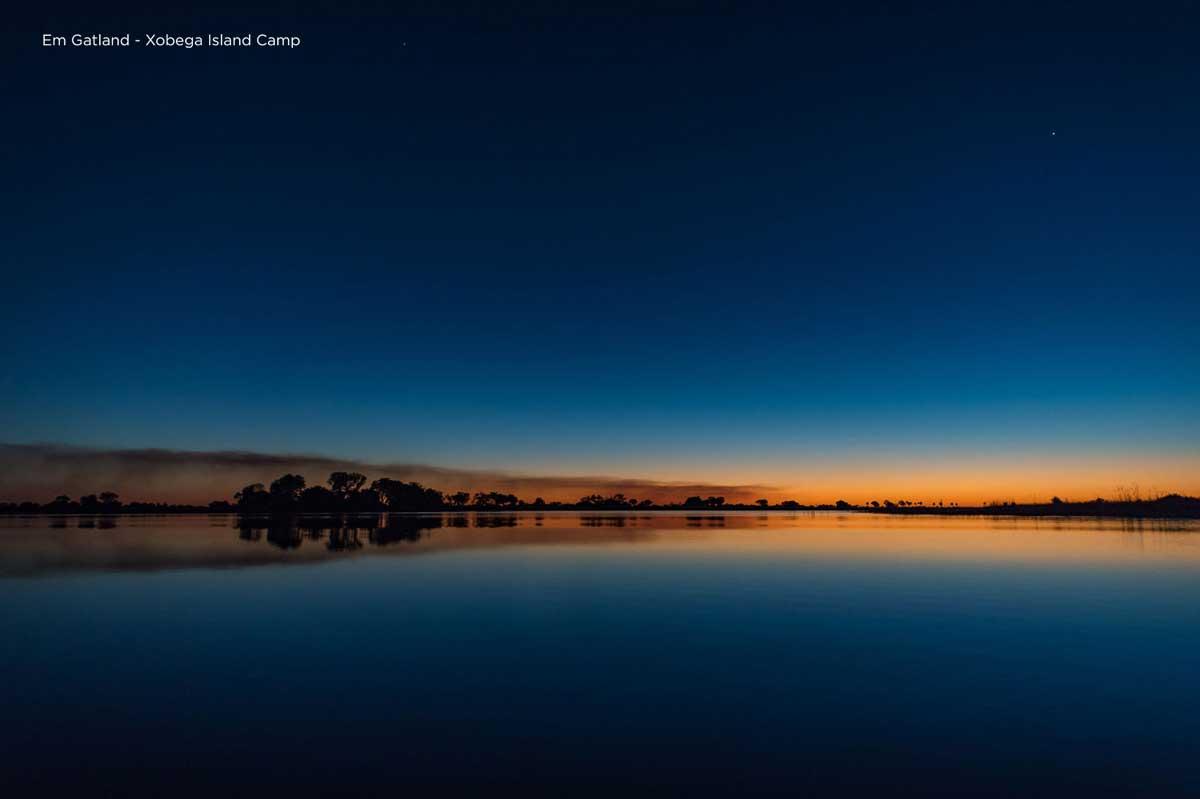 Sunset Delta Blues and Oranges