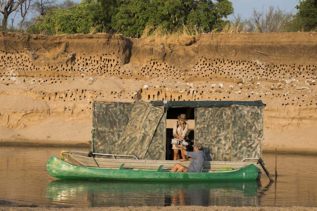 Kaingo Camp, carmine bee-eater hide