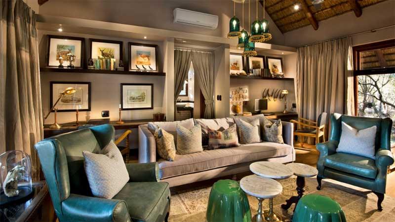 Lounge at Ngala Safari Lodge