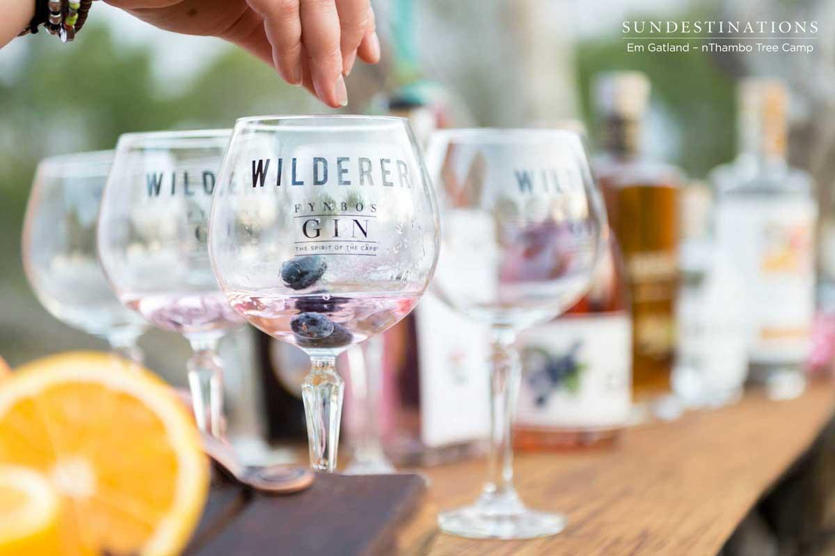 nThambo Tree Camp Gin and Tonics