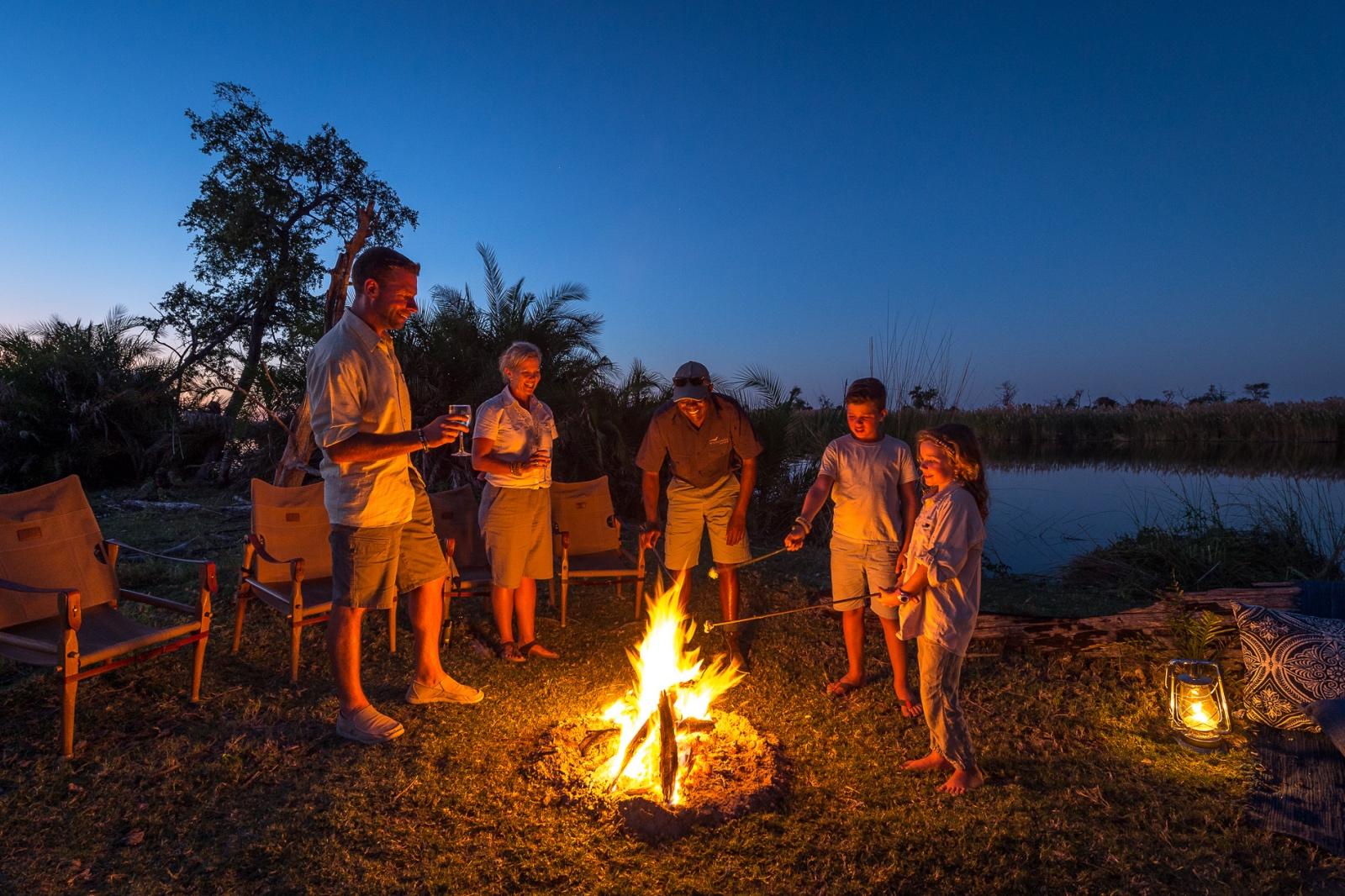 Little Vumbura campfire
