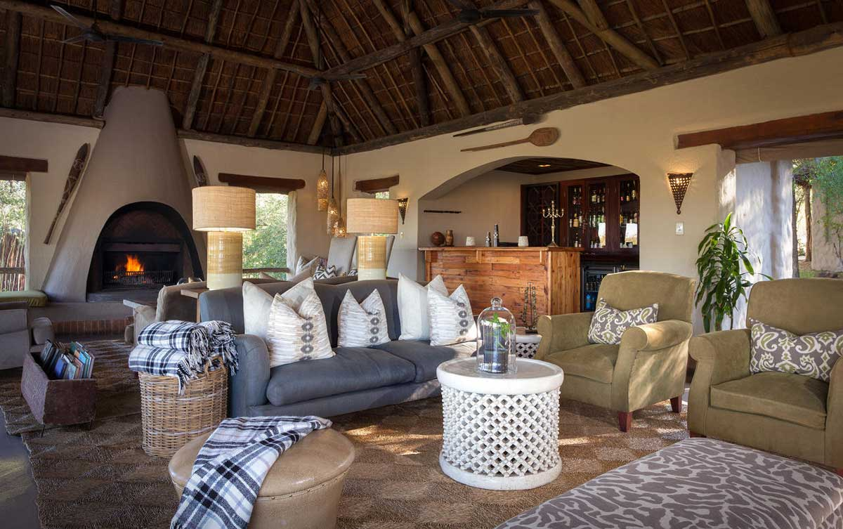 Simbambili Lodge Lounge