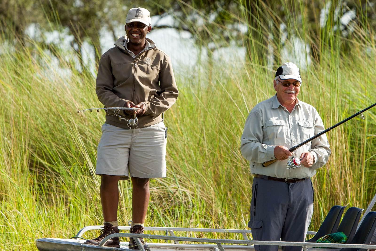 Seasonal fishing for bream and tiger at Xugana Island Lodge