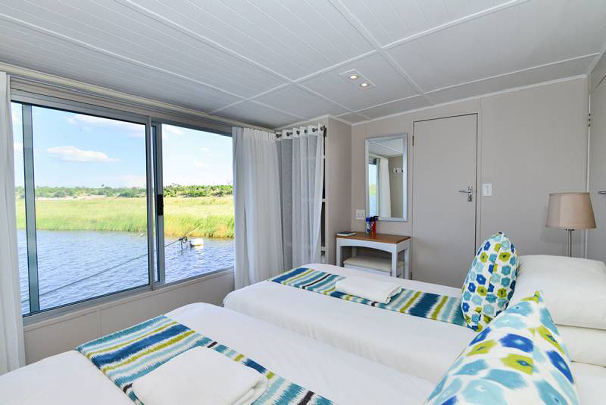 Interior of Chobe Princess Houseboat
