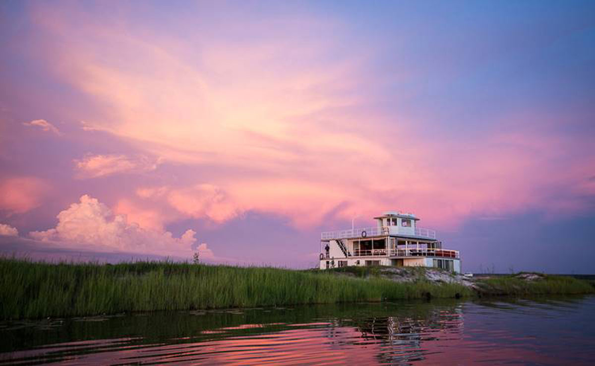 Chobe Princess Houseboat Sunset
