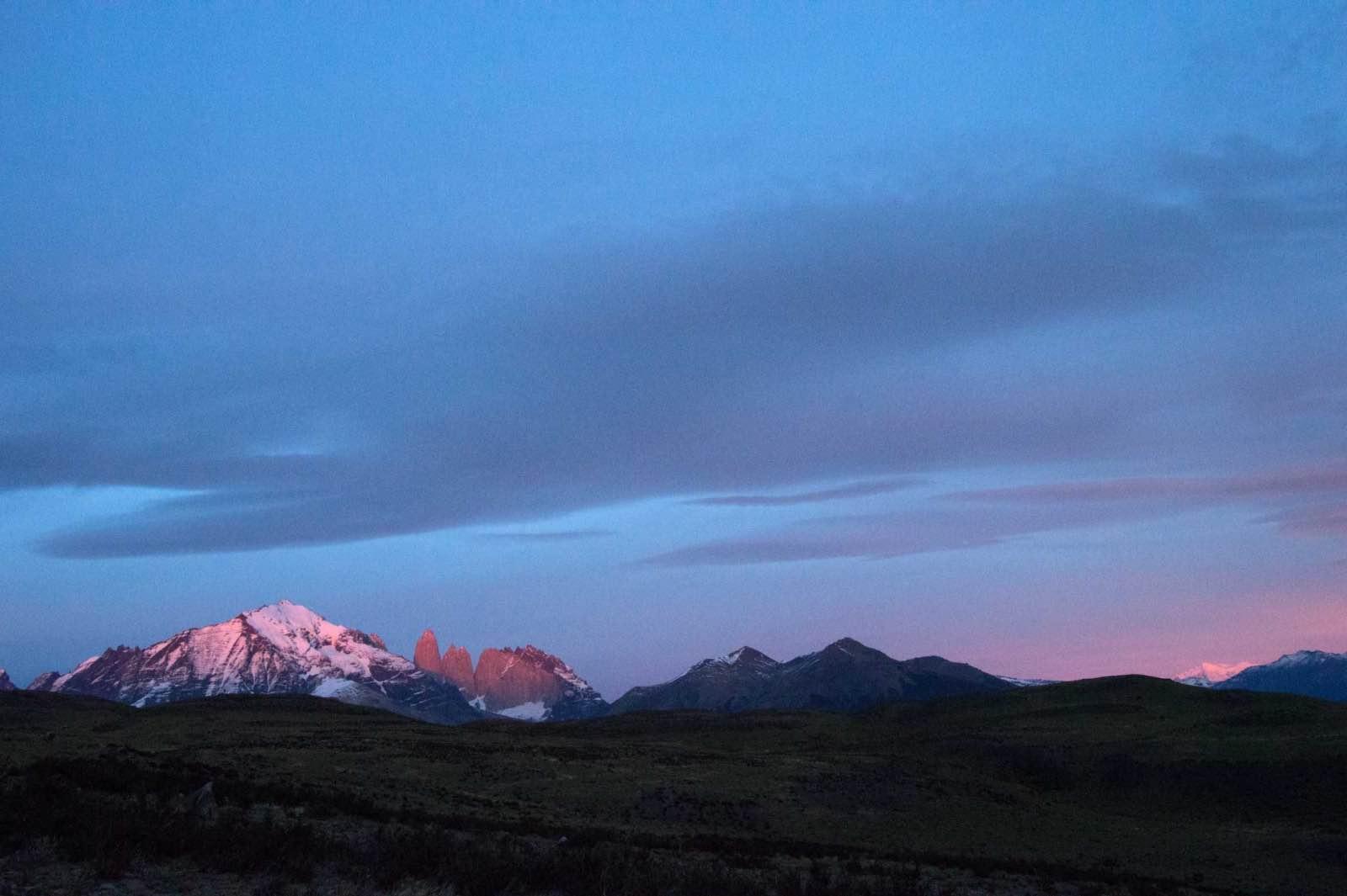 Sunrise on Torres del Paine