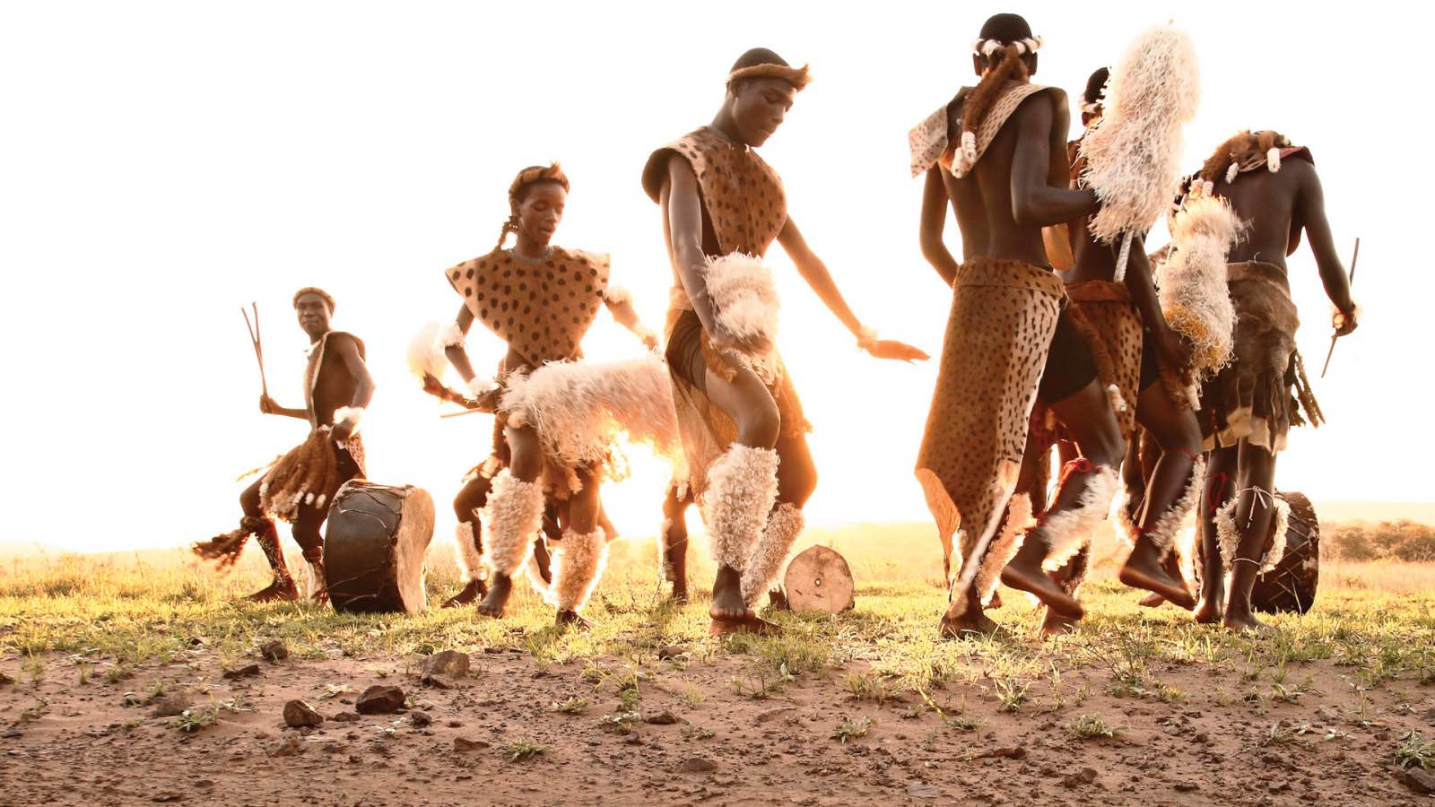 Zulu dancing at Phinda
