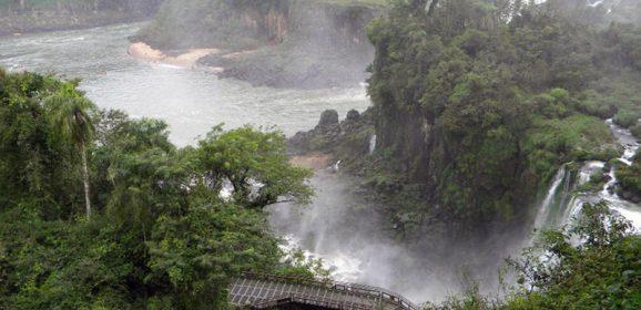 The Iguassú Falls in South America