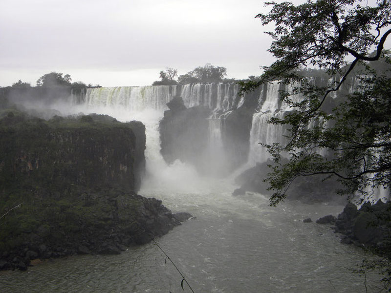 Iguassú Falls in South America