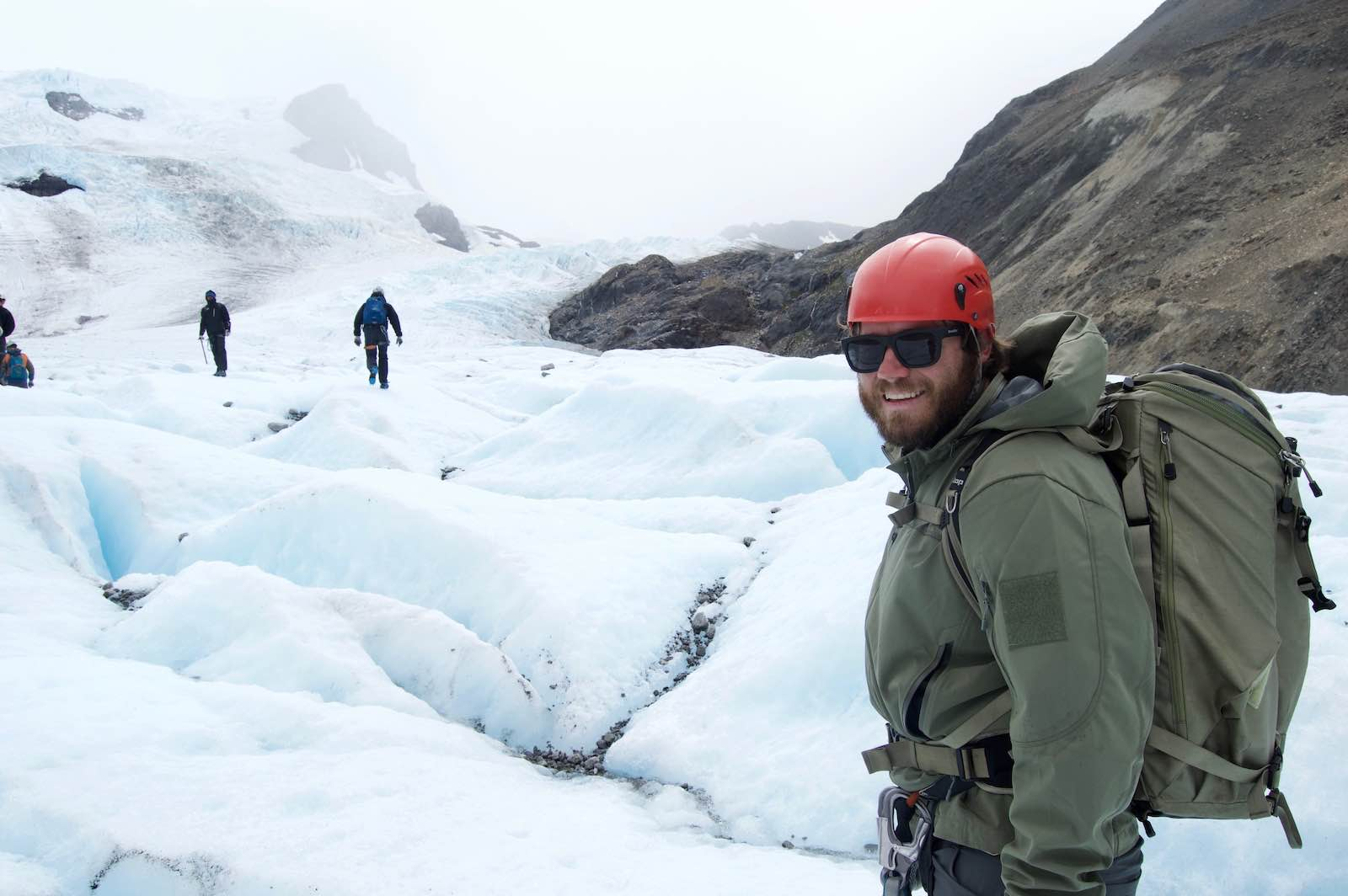 The grand finale of the ascent: ice trekking on puesto cagliero