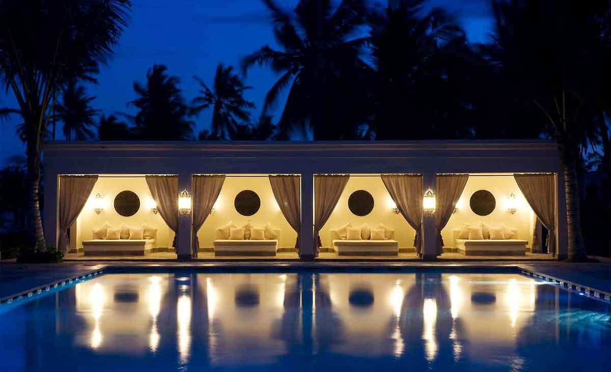 Baraza Pool at Night