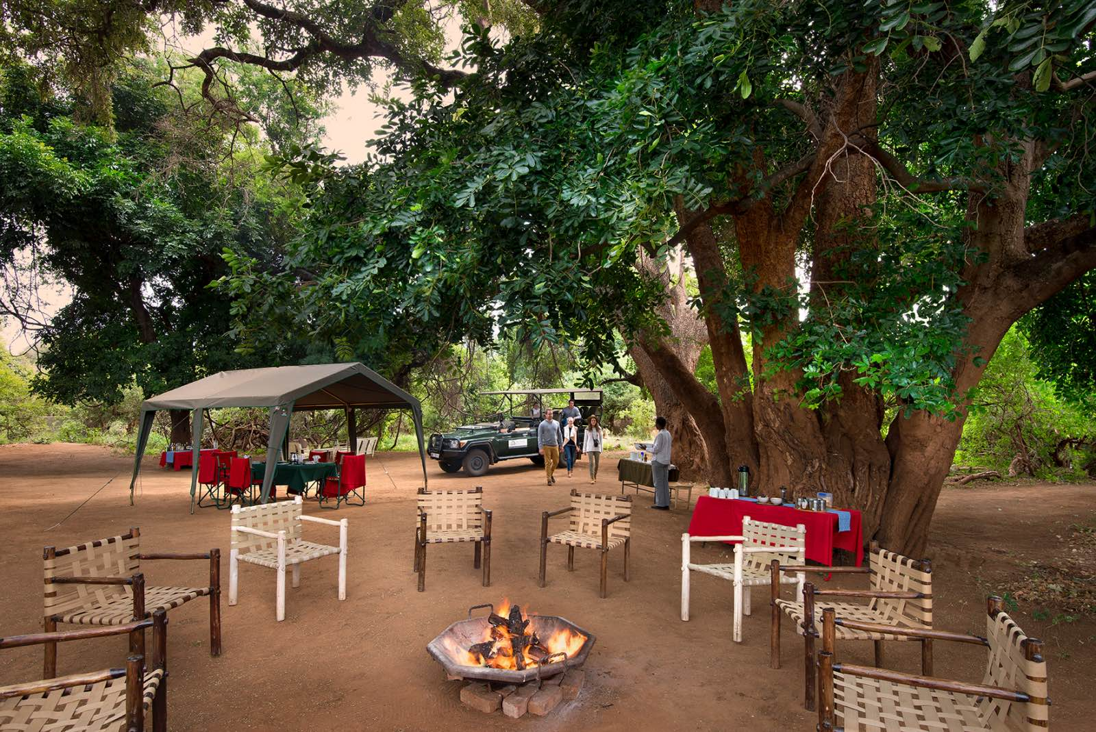 Luxury tented camp at Pafuri Walking Trails Camp