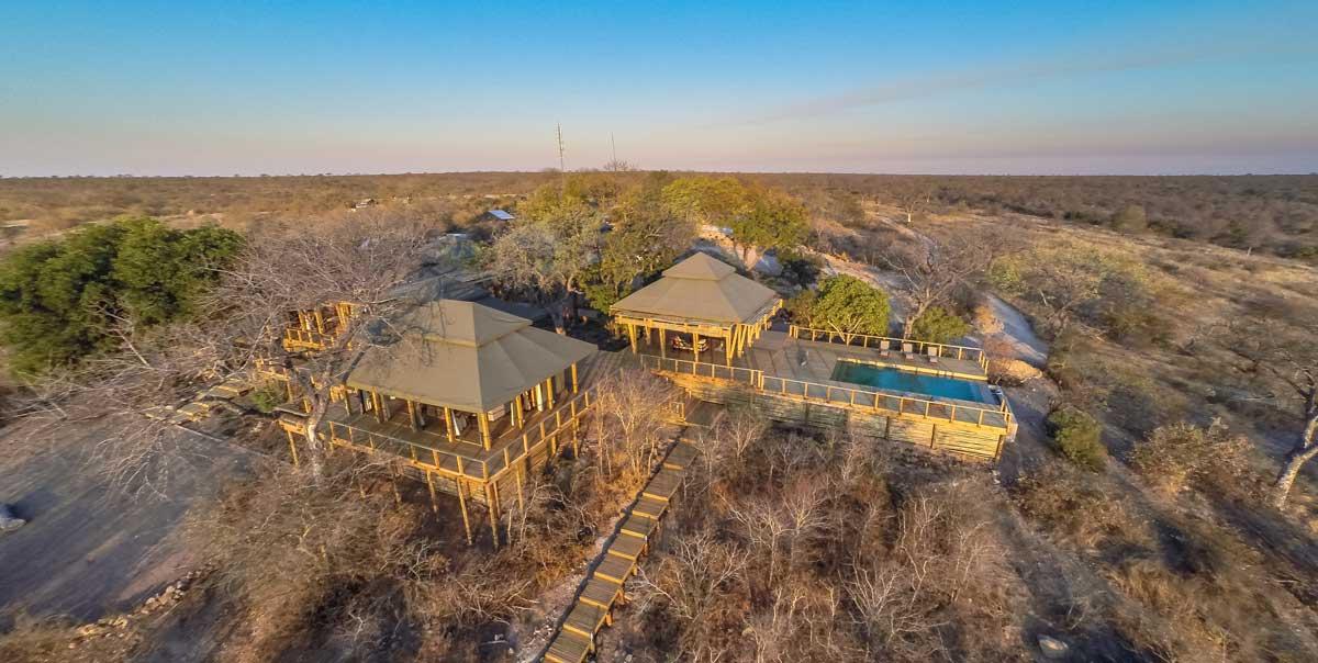 Aerial of the Simbavati Hilltop Lodge