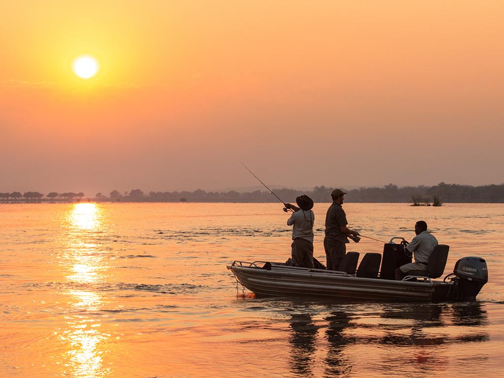 Boat cruise on the Zambezi