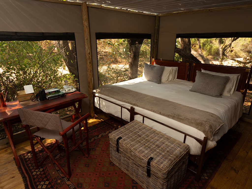 Second bedroom inside the tents at Sapi Springs