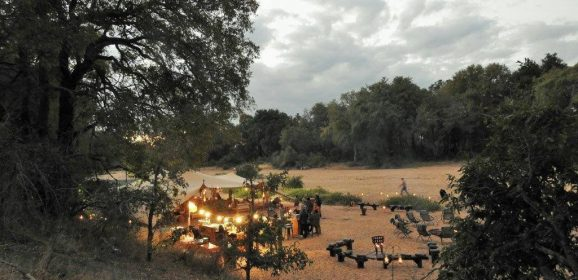 A luxury pop-up mobile tented camp in Kruger National Park