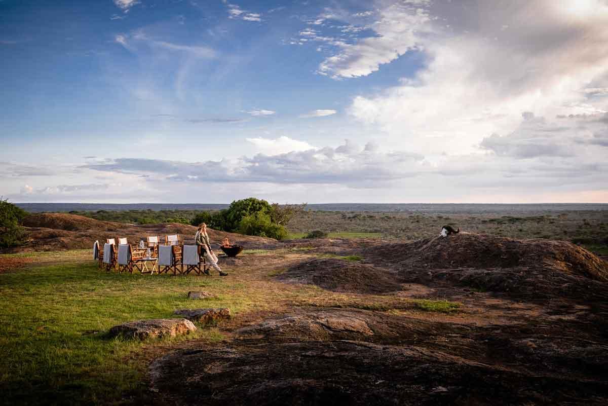 Kichakani Serengeti Camp Firepit