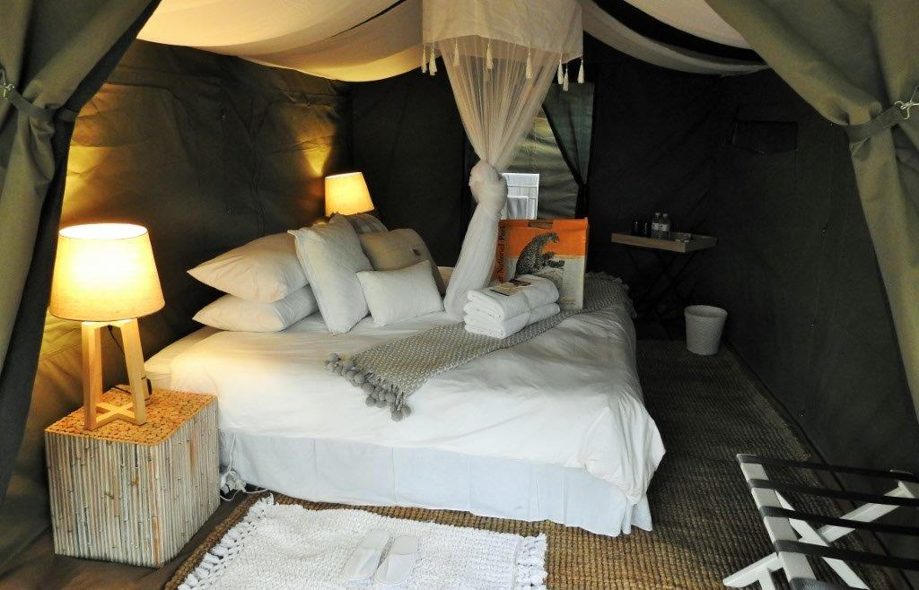 Luxury tent interiors at Kruger Grande mobile camp