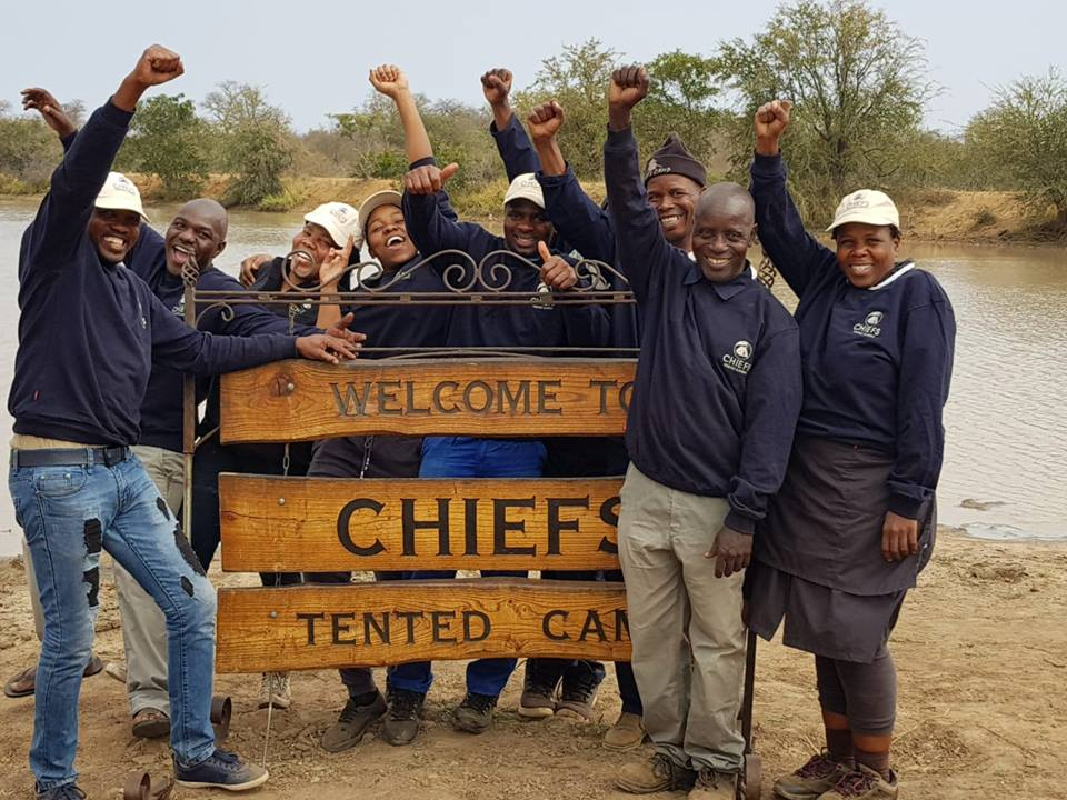 The energetic team behind Chiefs Tented Camp Kruger Grande