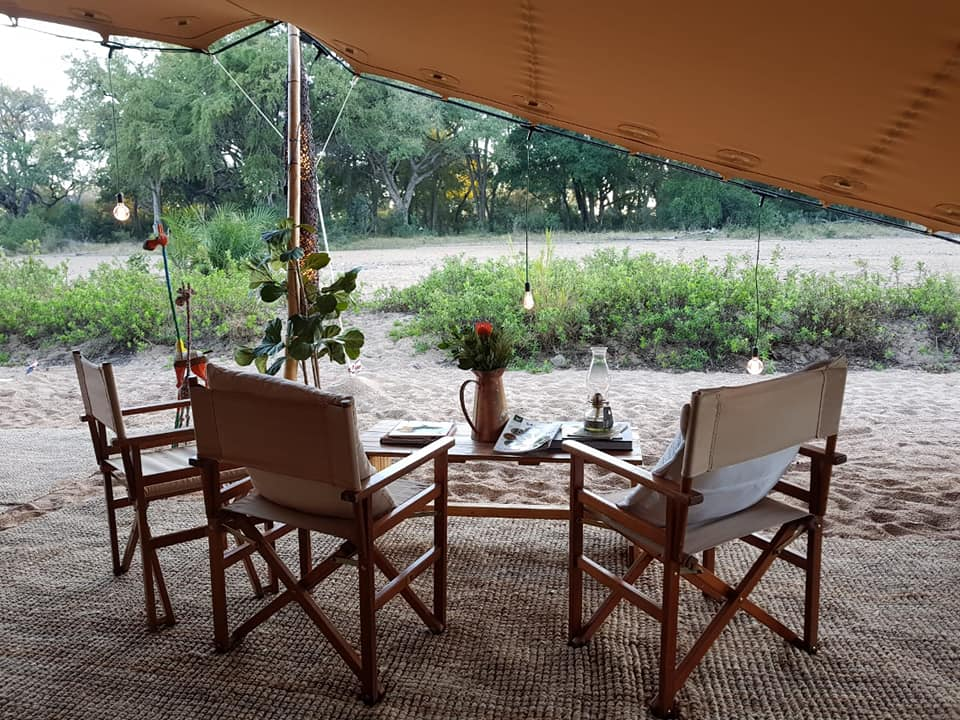 View from your private tented suite in the Kruger