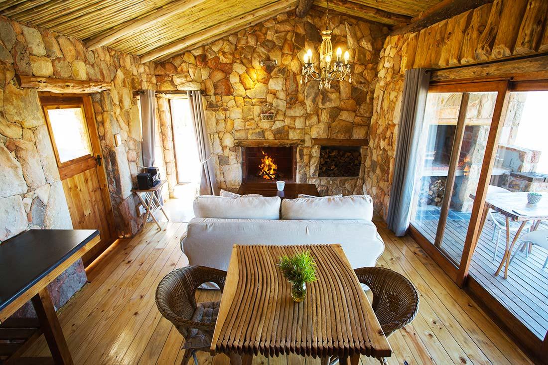 Kolkol mountain lodge cabin interior