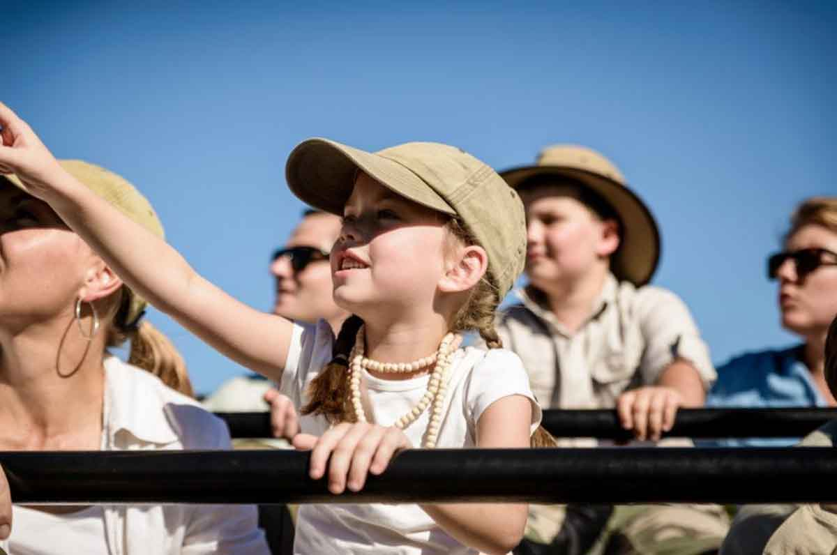 Children at Singita Castleton
