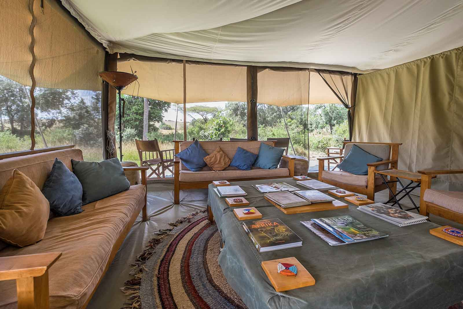 Porini Lion Camp Lounge