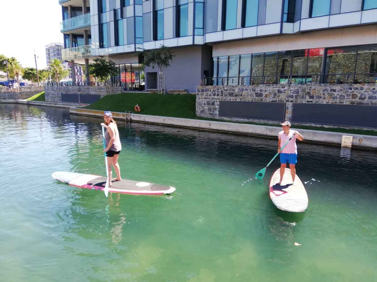 Stand Up Paddle Board on VA Waterfront Canal