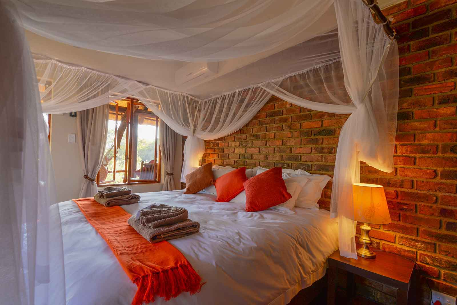 Bedroom at Klaserie River Safari Lodge