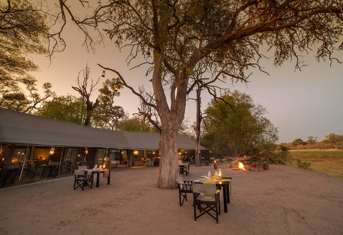 Machaba Camp Boma Dinner Area