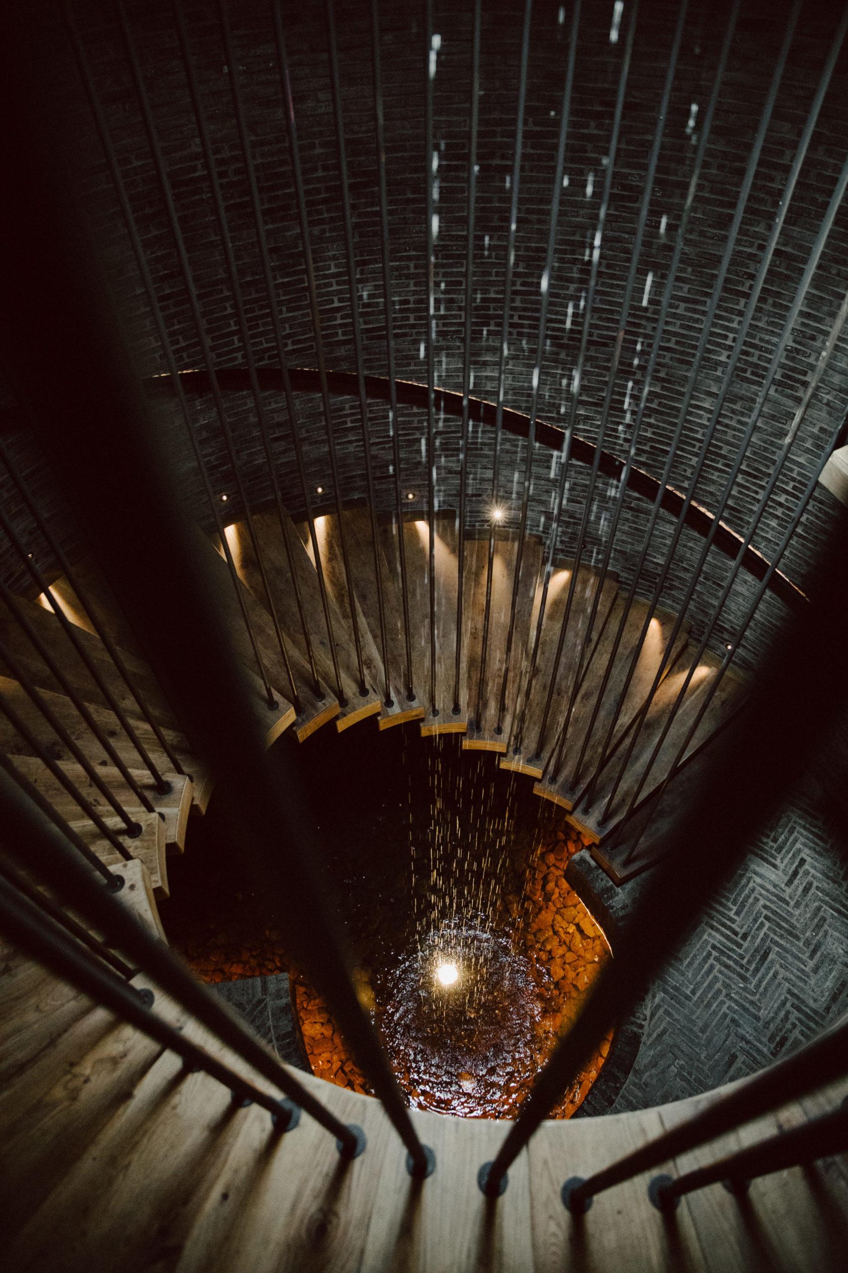 Staircase leading into Restaurant Jan Hendrik