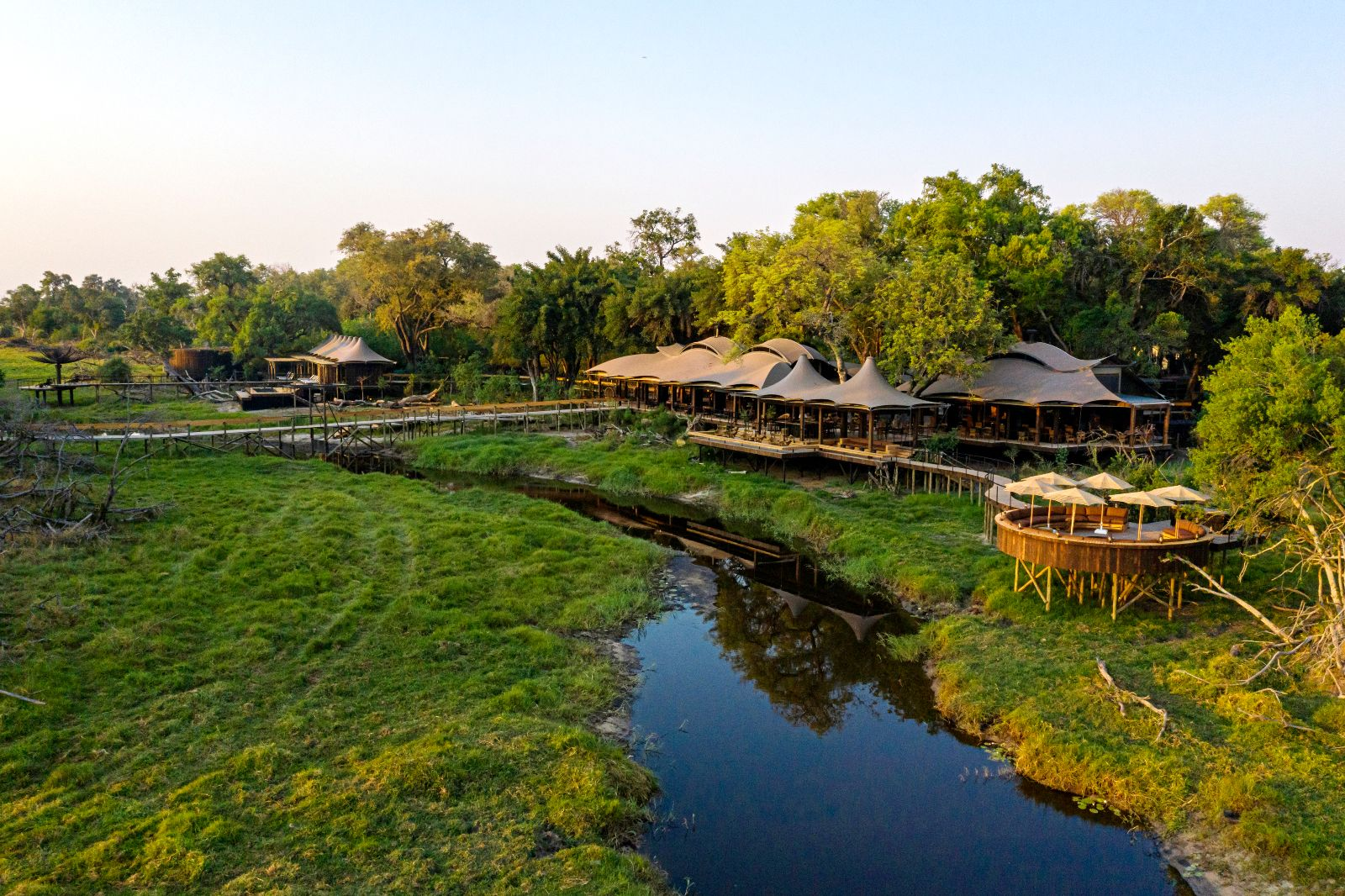 Xigera Safari Lodge Aerial Views