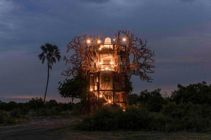 Contemporary Bliss Inside Xigera Safari Lodge's Baobab Treehouse