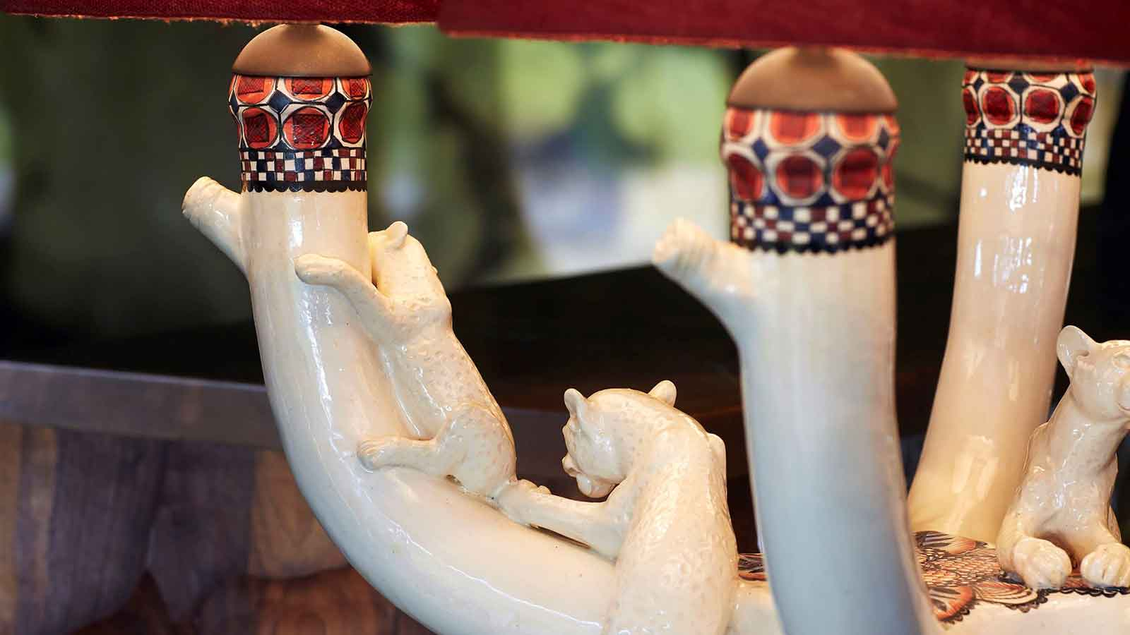 Ardmore Leopard Ceramic Lamp